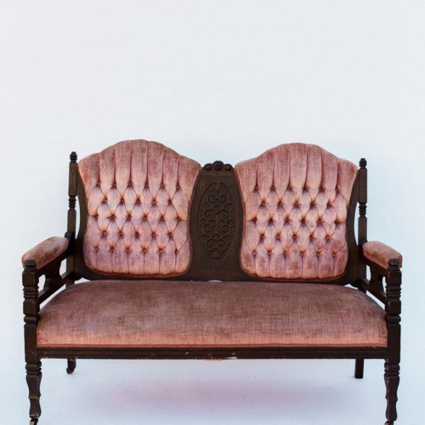 pink settee