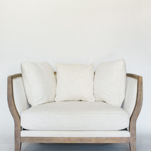 linen loveseat