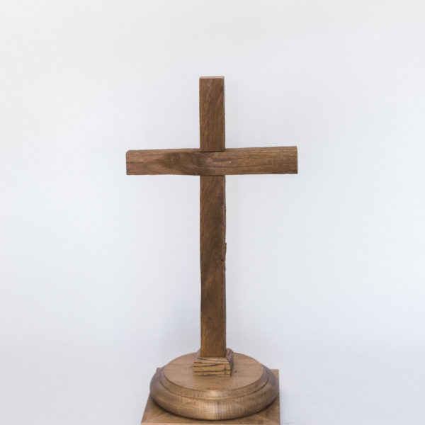 wooden table cross
