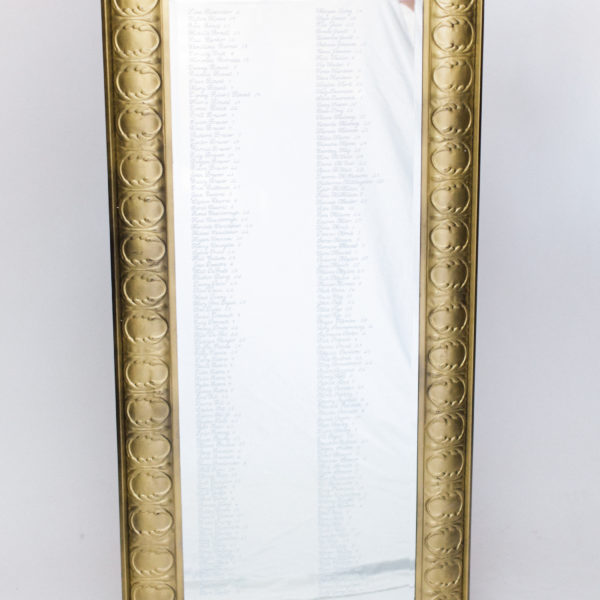 tall gold floor mirror