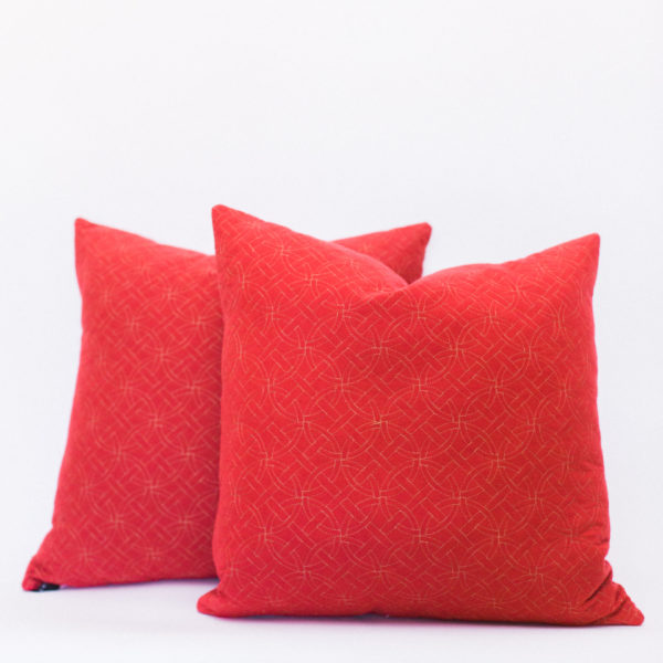 red pillows