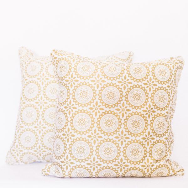 gold boho pillows
