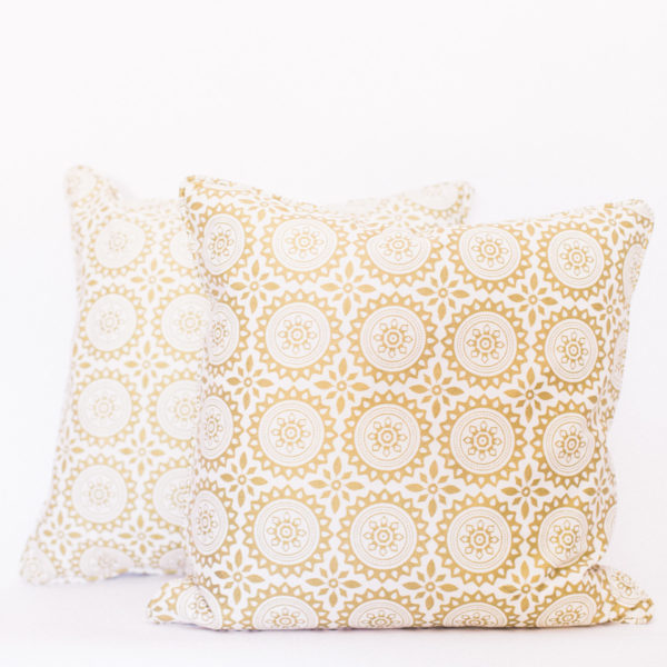gold boho pillows