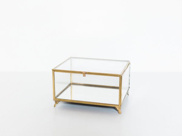 gold glass box