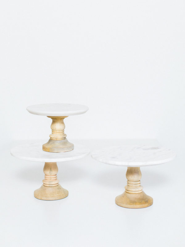 french marble cake stands