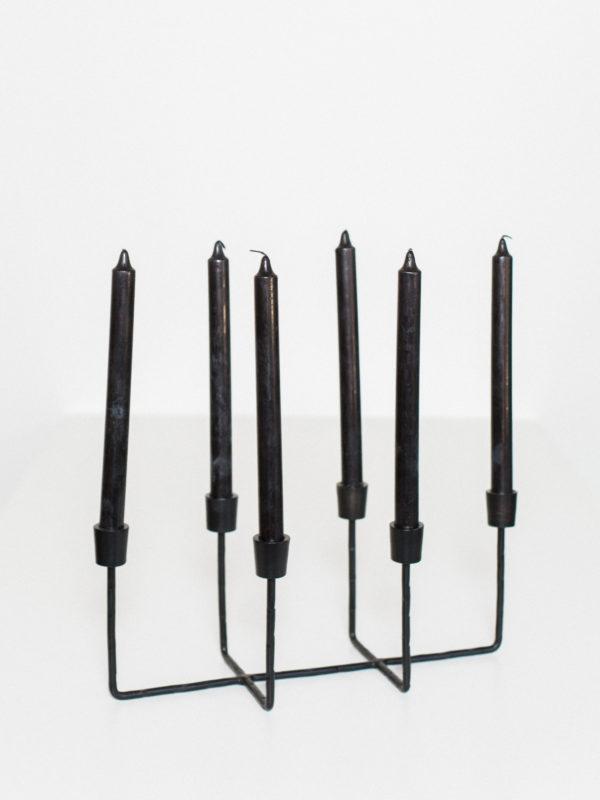 black candelabra