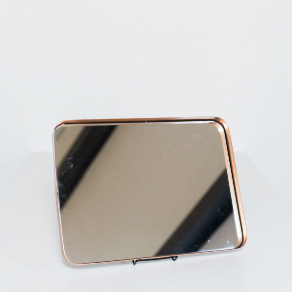copper mirror tray