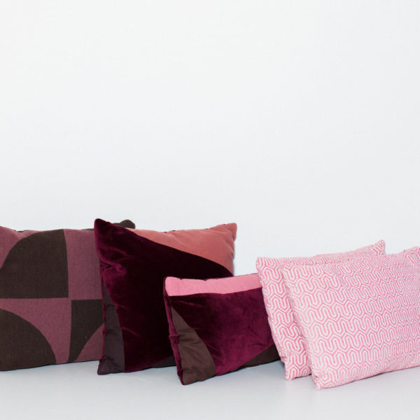 purple and fuschia pillows