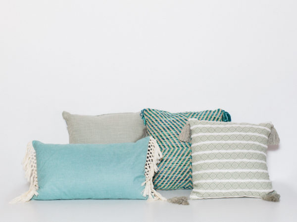 mint and aqua pillows