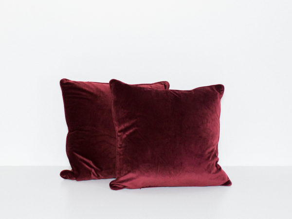 burgundy pillows