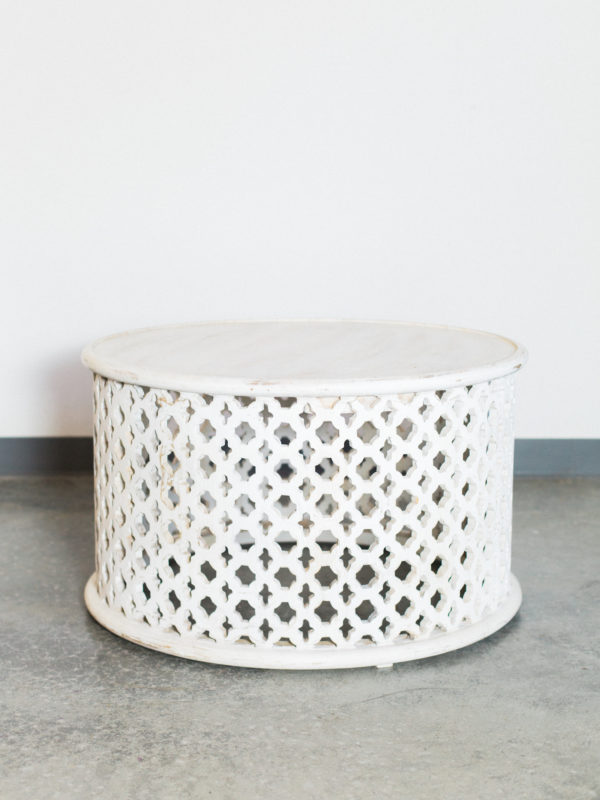 white round coffee table