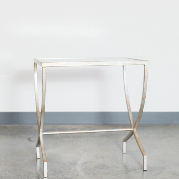 silver mirror table