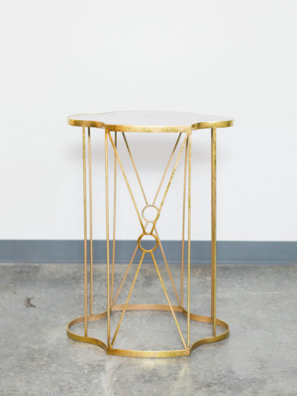 gold diamond table