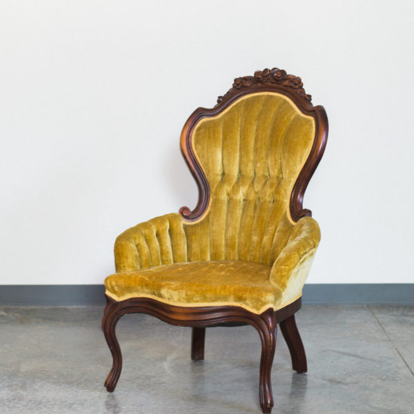 yellow vintage chair