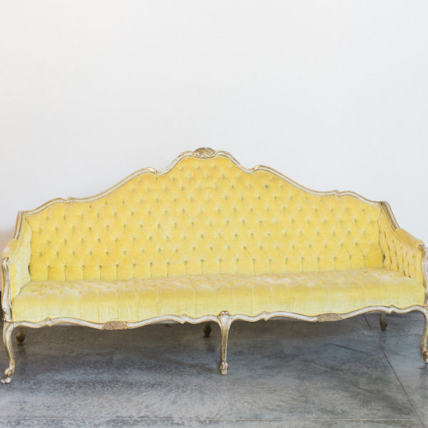 yellow vintage couch