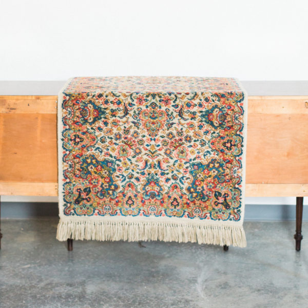 floral vintage rug