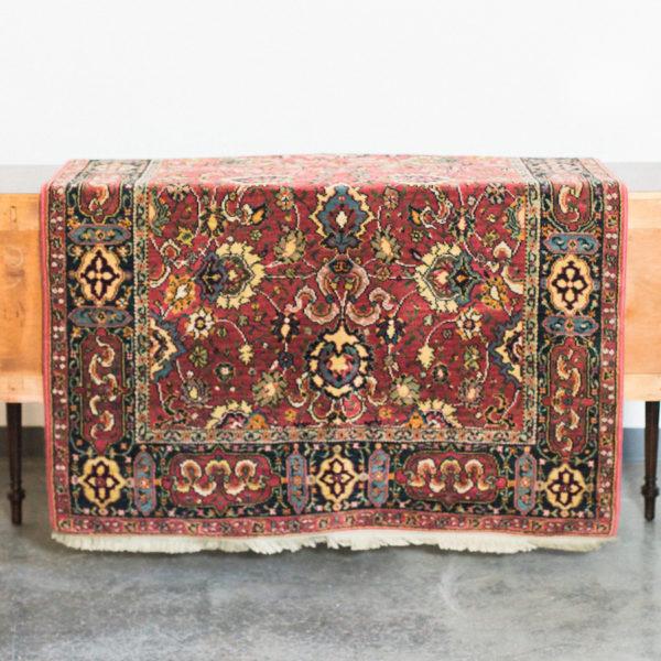 burgundy vintage rug