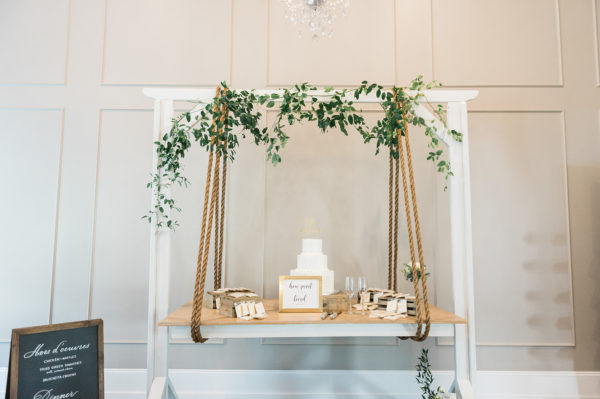 white hanging table