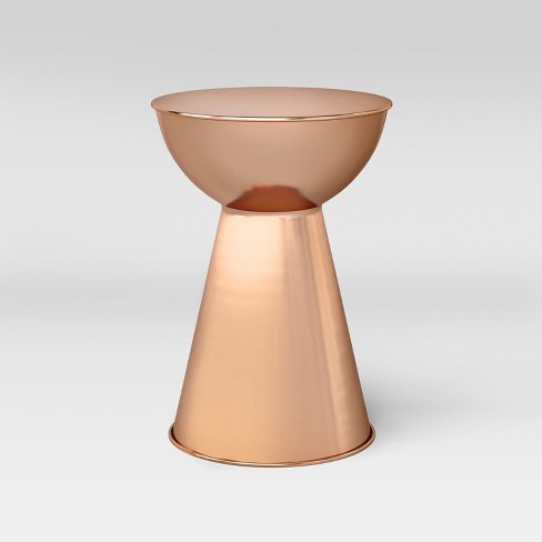 copper side tables