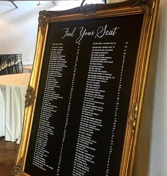large gold chalkboards