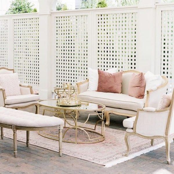 pink linen lounge
